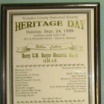 Image of Handbill - Heritage Day Handbill
