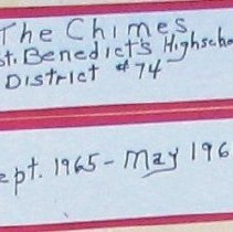 "Image of Newspaper - Editions of ""Chimes"" St. Benedict High School Paper"