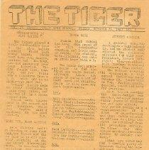 Image of The SHS Tiger newsletter,1947