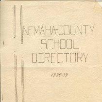 Image of 1938-39 School Directory