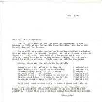 Image of CCC reunion letter