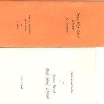 Image of Booklet - Seneca High School Alumni Collection School Alumni Programs & pamphlets