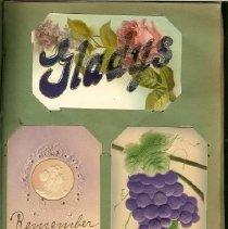 Image of Gladys PostCard Album