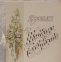 Image of Booklet Marriage Certificate