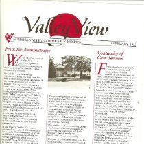 Image of Valley View Newsletter '85