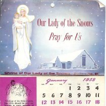 Image of Our lady of the snows calendar
