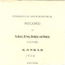 Image of Book - Genealogical and Biographical Record North-Eastern Kansas