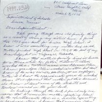 Image of Letter to Supertendent