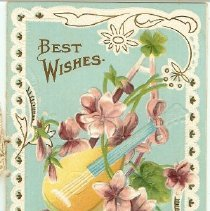 Image of Booklet - 1 Best Wishes card from Vilets School, District No. 79
