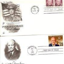 Image of Envelope - envelopes with Dwight Eisenhower stamps