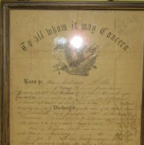 Image of Civil War Discharge Papers