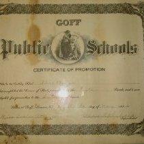 Image of Goff Schools Certificate