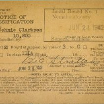 Image of Selective Service Card