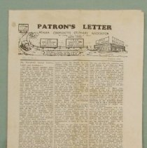 Image of Patron's letter