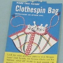 Image of Clothespin bag  card