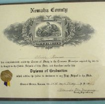 Image of Diploma - public schools diploma for Nemaha County