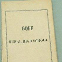 Image of Program - 1 Goff Rural High School Alumni Association program from 1960's
