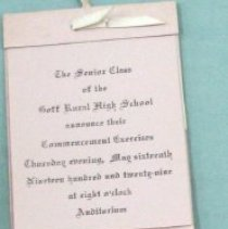 Image of Goff Graduation Invitation, 19