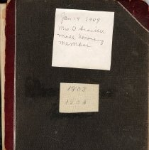 Image of Woman's Club notebook 1903