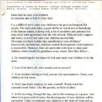 Image of Manuscript - Rules how to raise your children