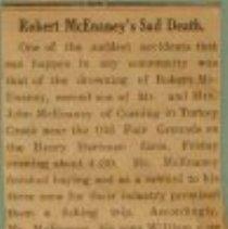 Image of Documents - obituary of Robert McEnaney- sone of John McEnaney