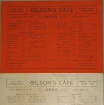 Image of Gilson Cafe Menus