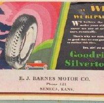 Image of E.J. Barnes Motor Co. Card