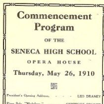Image of SHS Program 1910 Commencement