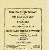 Image of Program - Oneida High School Boys & Girls Glee Club program from 1928