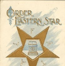 Image of Easter Star invitation 1900