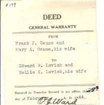 Image of Levick Deed