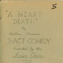 Image of A Merry Death, Sr. Plan '39