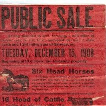 Image of Levick Public Sale handbill