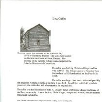 Image of Old Albany-Log Cabin by I. Huf