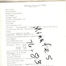 Image of Documents - List of Volunteers - 1976