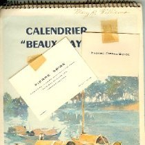 """Image of Calendar - Calendrier """"Beaux Pays"""" 1952"""