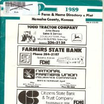 Image of Directory 1989 Farm and Ranch