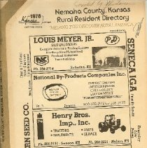 Image of Directory, Telephone - Nemaha county, KS, Rural Resident Directory