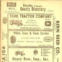 Image of 1972 Nemaha County Directory