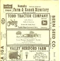 Image of Directory, Telephone - Nemaha Farm and Ranch Directory 1969