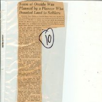 Image of Town of Oneida - newspaper