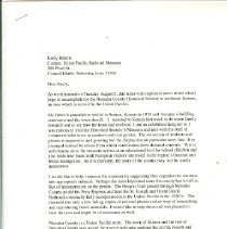 Image of Keely Rennie letter, UP Curato