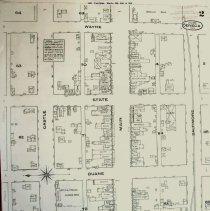 Image of 1885 Map of East Main St. Sene