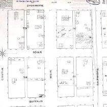 Image of 1885 Map of West Main St. Sene