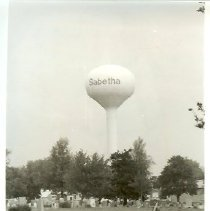 Image of Sabetha water tower 1991