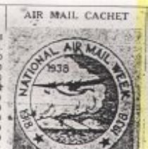 Image of Letter - First Air Mail out of Seneca, 1938