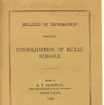 Image of Booklet - Consolidation of Rural Schools