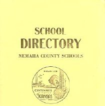 Image of Booklet - School Directory Nemaha County Schools, 1960-1961