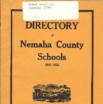 Image of Booklet - Directory of Nemaha County Schools 1931-1932