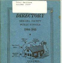 Image of Booklet - Directory Nemaha County  Public Schools 1944-1945